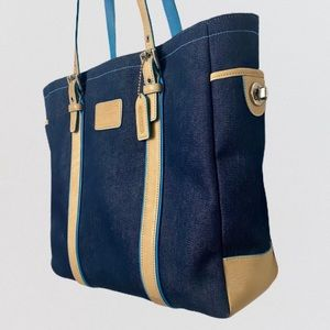 Coach Denim and Leather Tote